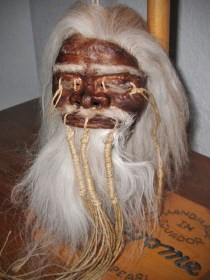 ancient warrior shrunken head